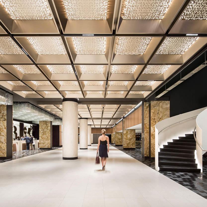Sid Lee overhauls interiors of Montreal's iconic Fairmont Queen Elizabeth Hotel (Dezeen)