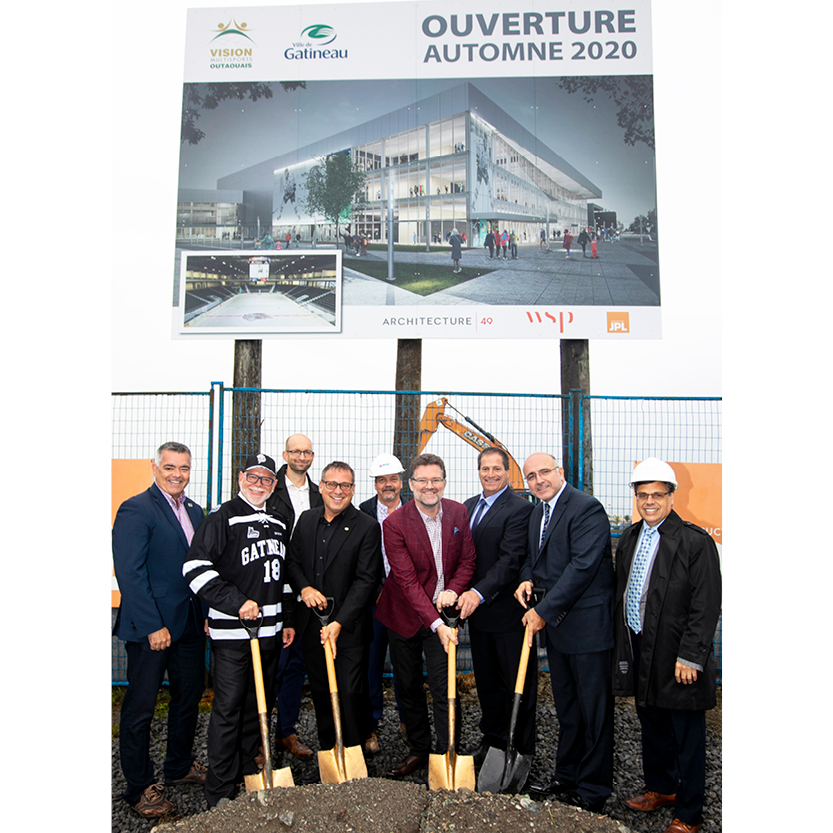Groundbreaking ceremony for the Complexe 4 Glaces in Gatineau